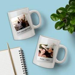 Με δύο Φωτογραφίες, Κούπα με Μήνυμα, Ονόματα