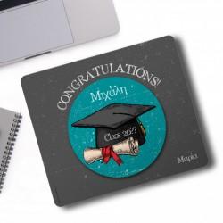 Mouse Pad για αποφοίτηση Congratulations με Όνομα