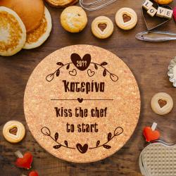 Kiss the chef, Βάση από Φελλό για ζεστά σκεύη 3 τμχ