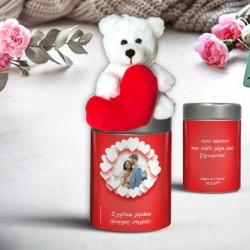 Familyandfriends.gr-Photo-Prosopopoihmeno-dwro-me-fotografia-onoma-gia-erotevmenous-arkoudaki-se%20metalliko%20koyti-valentines-epeteios–kokkino-Kardies-THUMB-250x250