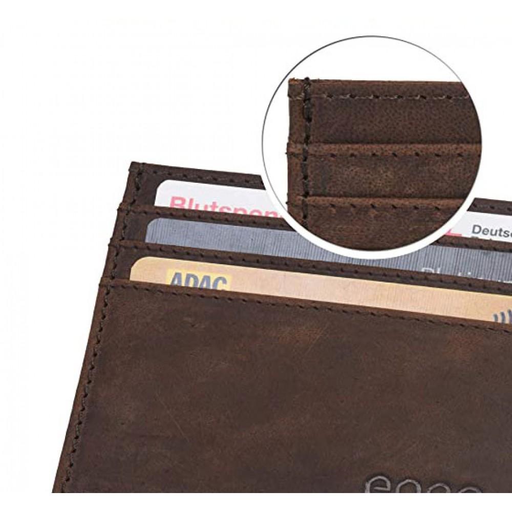 Δερμάτινη Θήκη για Πιστωτικές Κάρτες με Αρχικά