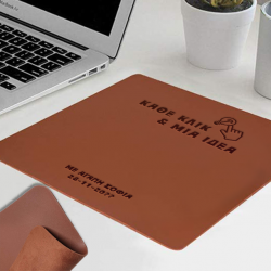 Δερμάτινο Mouse Pad με Ονόματα για γραφείο
