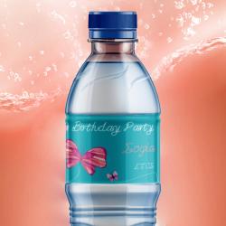 Ετικέτα για Μπουκάλι Νερού στο Παιδικό Πάρτι με όνομα 48τμχ