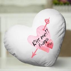 Προσωποποιημένο Διακοσμητικό Μαξιλάρι σε σχήμα Καρδιάς με Όνομα
