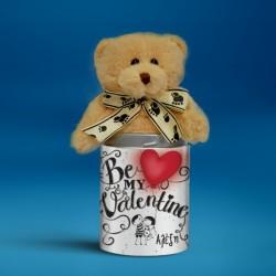 Αρκουδάκι Be My Valentine, Προσωποποιημένο με Όνομα και Αφιέρωση