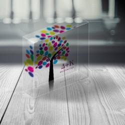 Διακοσμητικό Plexi glass με Δεντράκι, Προσωποποιημένo με Αρχικά