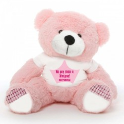 Αρκούδος 45cm ή 25cm Δώρο για Νεογέννητο Κοριτσάκι με Όνομα, Ημερομηνία
