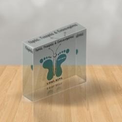 PlexiGlass με Πατούσες Προσωποποιημένο Δώρο για Νεογέννητο