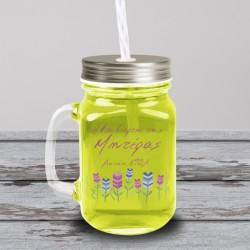 1η γιορτή της Mητέρας, Προσωποποιημενο Δώρο ποτήρι με καλαμάκι