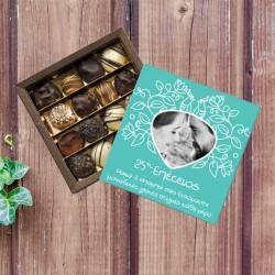 Κουτί Σοκολατάκια για Επετείους με Φωτογραφία, Ευχές