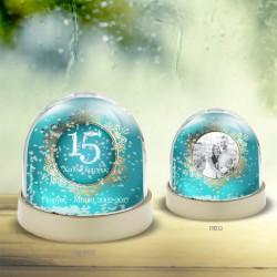 Δώρο για Επέτειο Χιονόμπαλα Προσωποποιημένη με φωτογραφία