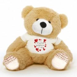 Δώρο για την Επέτειο Αρκούδος 45cm ή 25cm με Προσωποποιημένο Μακό