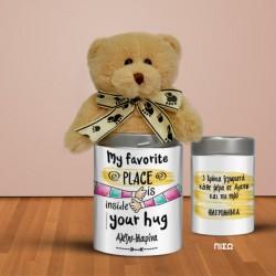 Δώρο για Επετείους Αρκουδάκι σε Μεταλλικό κουτί