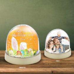 Δώρο για το Πάσχα Χιονόμπαλα Παιχνίδι με φωτογραφία, ονόματα