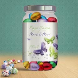 Δώρο για Πάσχα, Βαζάκι με Σοκολατένια Αυγουλάκια και Ονόματα