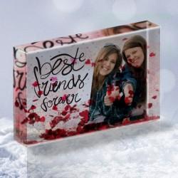 Best Friends, Κορνίζα με αιωρούμενες καρδούλες, με Φωτογραφία