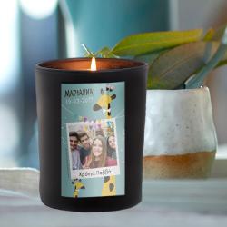 Κερί σε Ποτήρι για Χρόνια Πολλά με Φωτογραφία, Ευχές