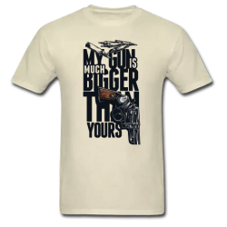 Αντρικό T-shirt My Gun Is Much Bigger