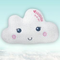 Μαξιλάρι Σύννεφο Παιδικό Διακοσμητικό με Όνομα, Ημ/νία