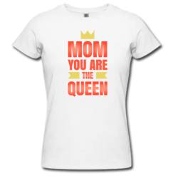 Λευκό Μακό Mom you are the Queen