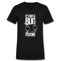 Μαύρο Ανδρικό Tshirt με στάμπα για Geeks με V