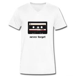 Λευκό Ανδρικό Tshirt με Έξυπνη Στάμπα με V