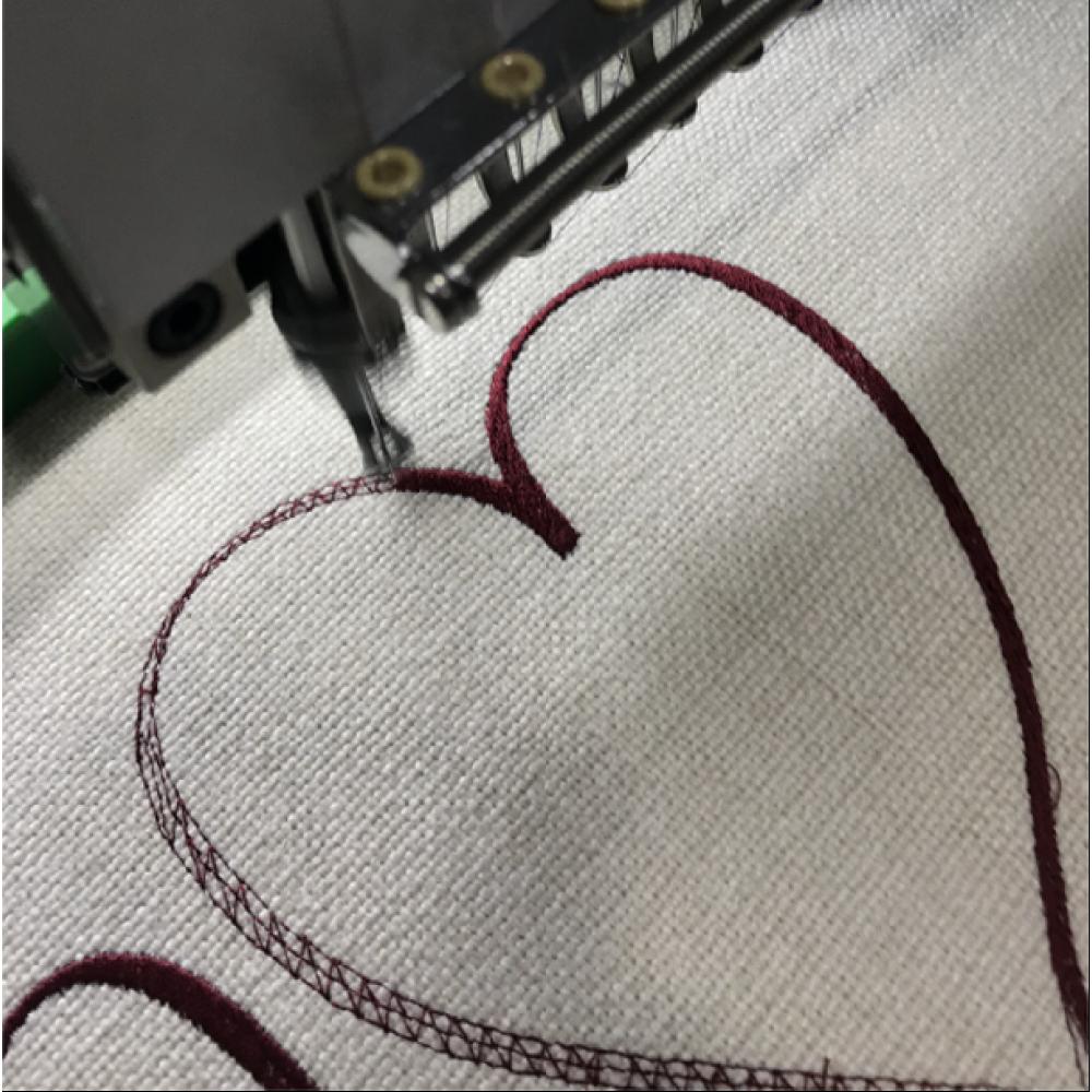 Όνομα με Κέντημα-Embroidered-σε Νεσεσέρ με καρδιά