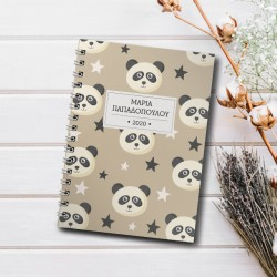 Με Panda Τετράδιο Σπιράλ Α4, με Ονοματεπώνυμο