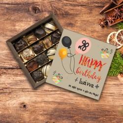 Με Ηλικία, Ευχές Κουτί Σοκολατάκια Δώρο για Γενέθλια