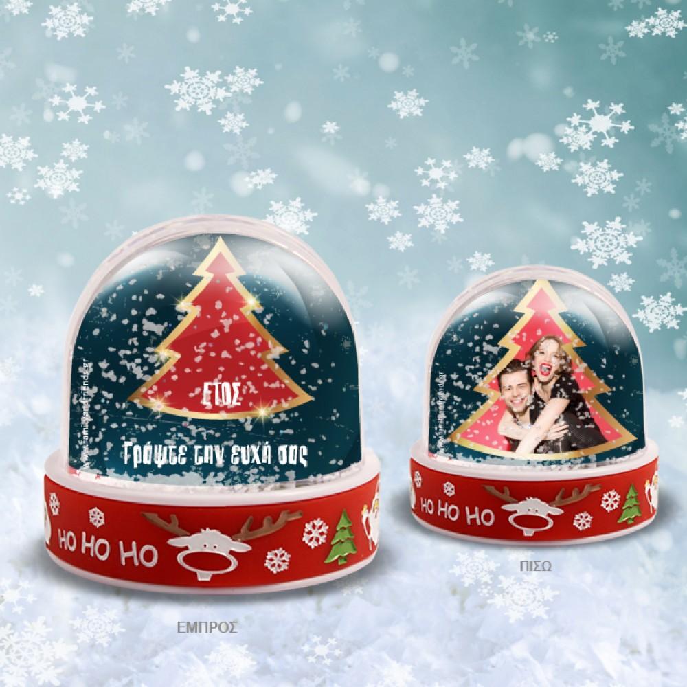 Χιονόμπαλα με Χριστουγεννιάτικο Δένδρο με Ευχές, Φωτογραφία