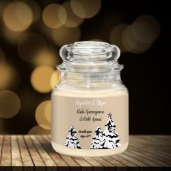 Κερί σε Βάζο με Δένδρα Δώρο για Χριστούγεννα με Ευχές
