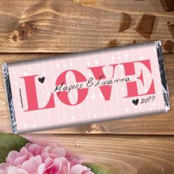 Σοκολάτα με Love, Μήνυμα, Ονόματα για ζευγάρια